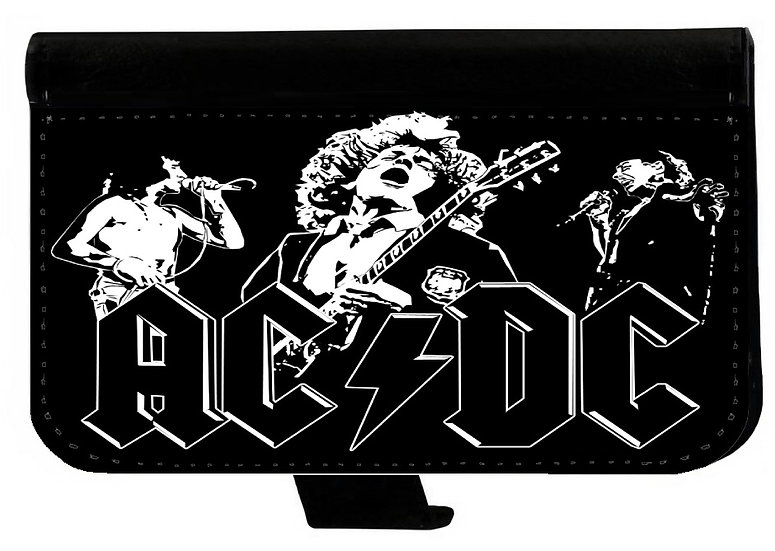 AC/DC (bnw) - LEATHER WALLET