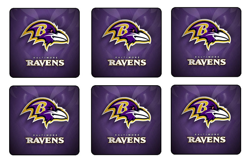 BALTIMORE RAVENS BEVERAGE COASTERS