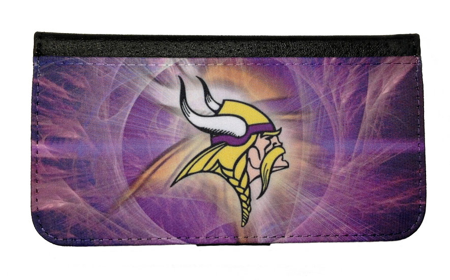 MINNESOTA VIKINGS IPHONE OR GALAXY CELL PHONE CASE WALLET