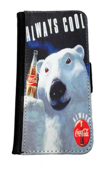COCA COLA BEAR IPHONE OR GALAXY CELL PHONE CASE WALLET