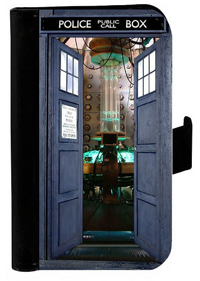 DOCTOR WHO TARDIS (open) - LEATHER WALLET