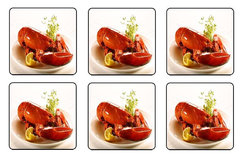 LOBSTER DINNER BEVERAGE COASTERS