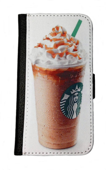 FRAPPACINO ICE COFFEE IPHONE OR GALAXY CELL PHONE CASE WALLET