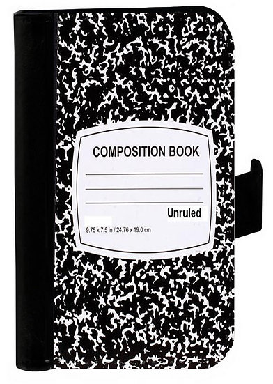 COMPOSITION BOOK IPHONE OR CELL PHONE CELL PHONE CASE WALLET