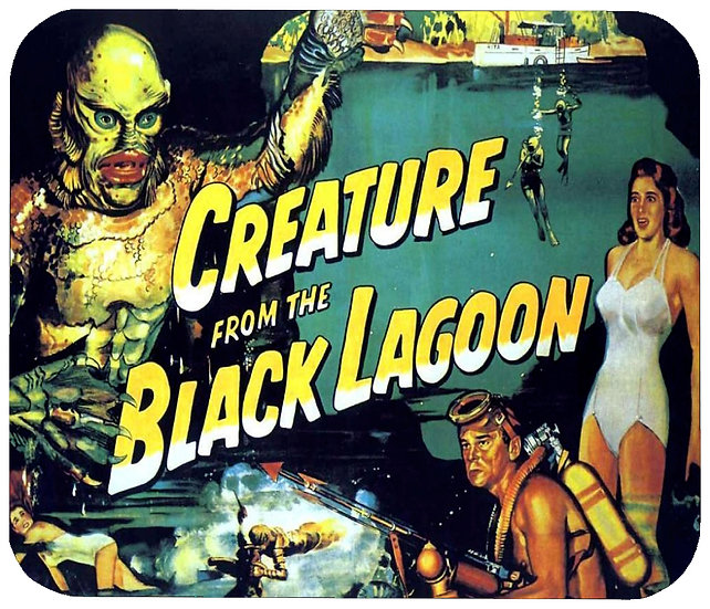 CREATURE FROM THE BLACK LAGOON  MOUSE PAD - (C)