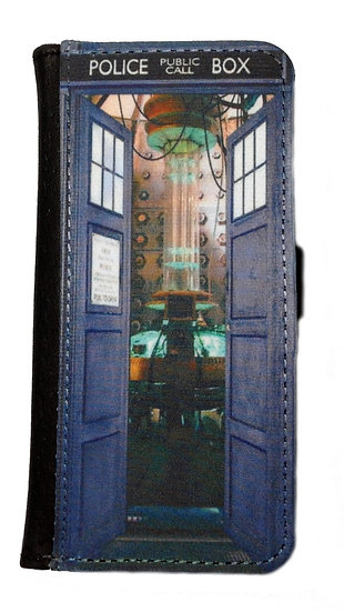 DOCTOR WHO TARDIS (ope) - LEATHER WALLET