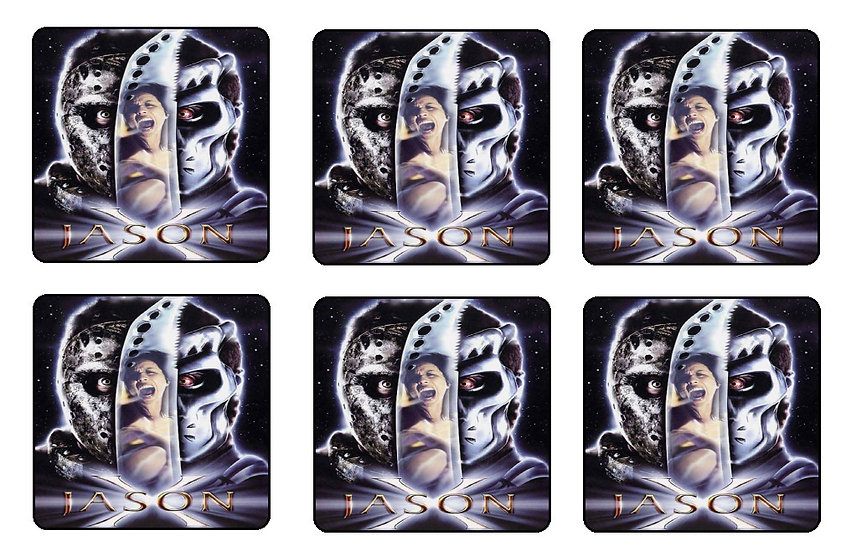 FRIDAY THE 13TH JASON X BEVERAGE COASTERS
