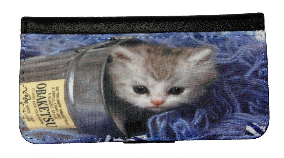 CUTE KITTEN IN A CAN IPHONE OR GALAXY CELL PHONE CASE WALLET WALLET