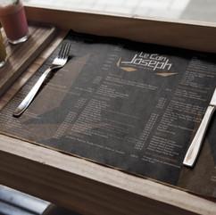 Sets de table menu