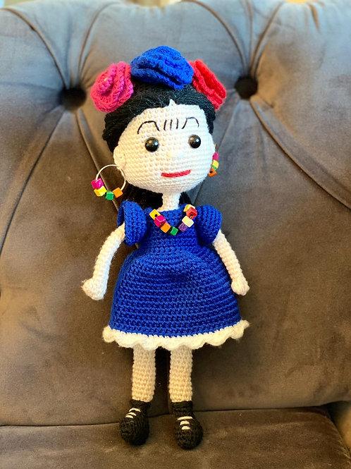 Amigurumi Küpeli Frida Kız