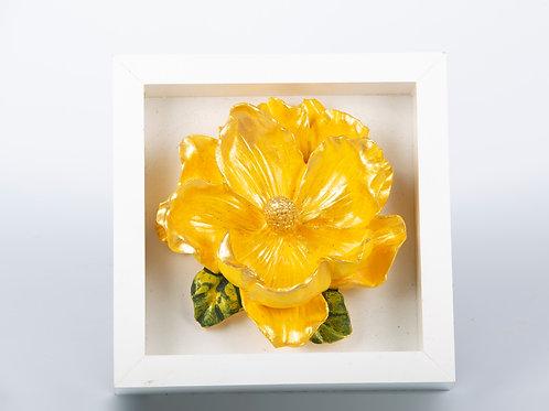 Seramikten Lotus Çiçekli Dekoratif Duvar Süsü