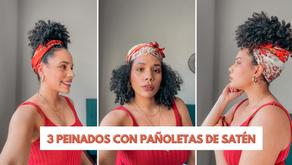 3 Peinados con pañoletas de Satén. Protege tus Rizos con Estilo este 2021