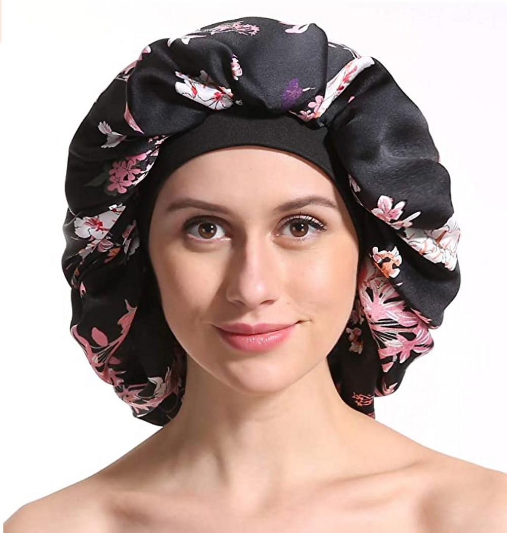 Satin Silk Bonnet Sleep Cap