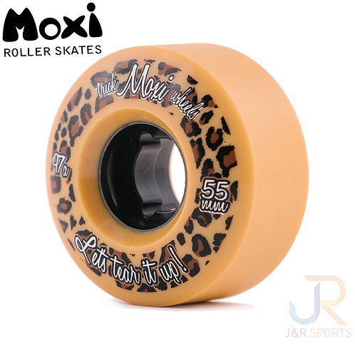 Moxi Trick Wheels - Tan 55mm, 97a  (Pack 4).