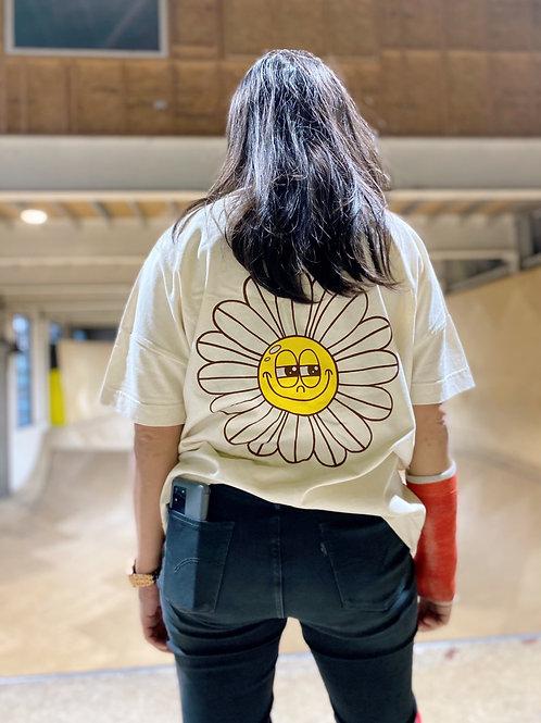 Be Good Skates Daisy print oversized organic t-shirt