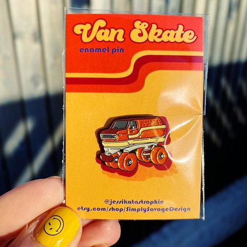 Van Skate glitter enamel pin by Jessika Savage