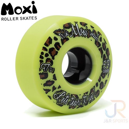 Moxi Trick Wheels - Lime 59mm, 97a (pack of 4).