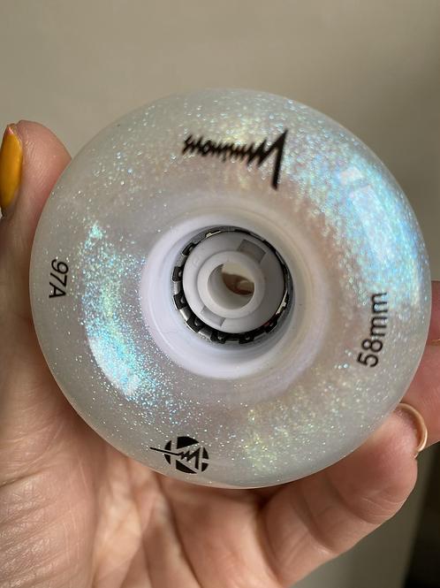 Luminous Pearl glitter wheels 97a 58mm (pack 4)