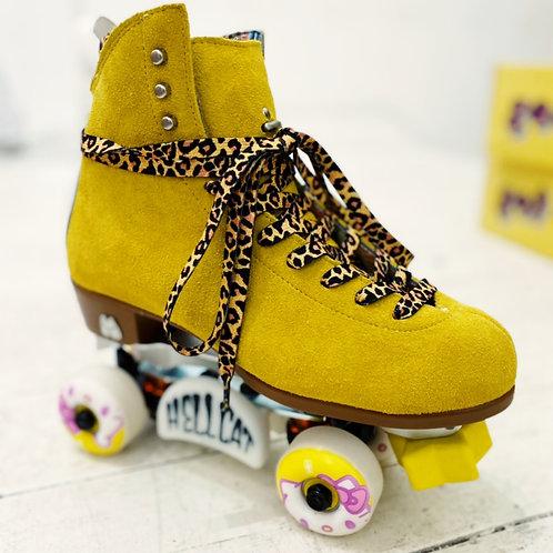 Moxi Panther skate laces. (Leopard print)
