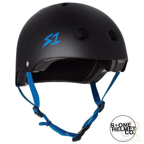 S1 Lifer Helmet - Black Matte Coloured Strap