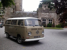 Campervan for wedding car hire
