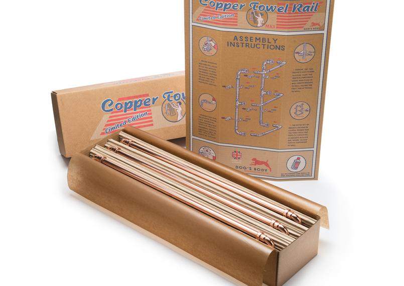 Dog's Body Design Copper Towel Rail