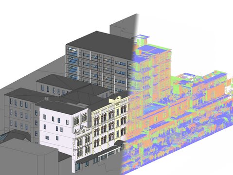 Hotel Complex - Scan to BIM