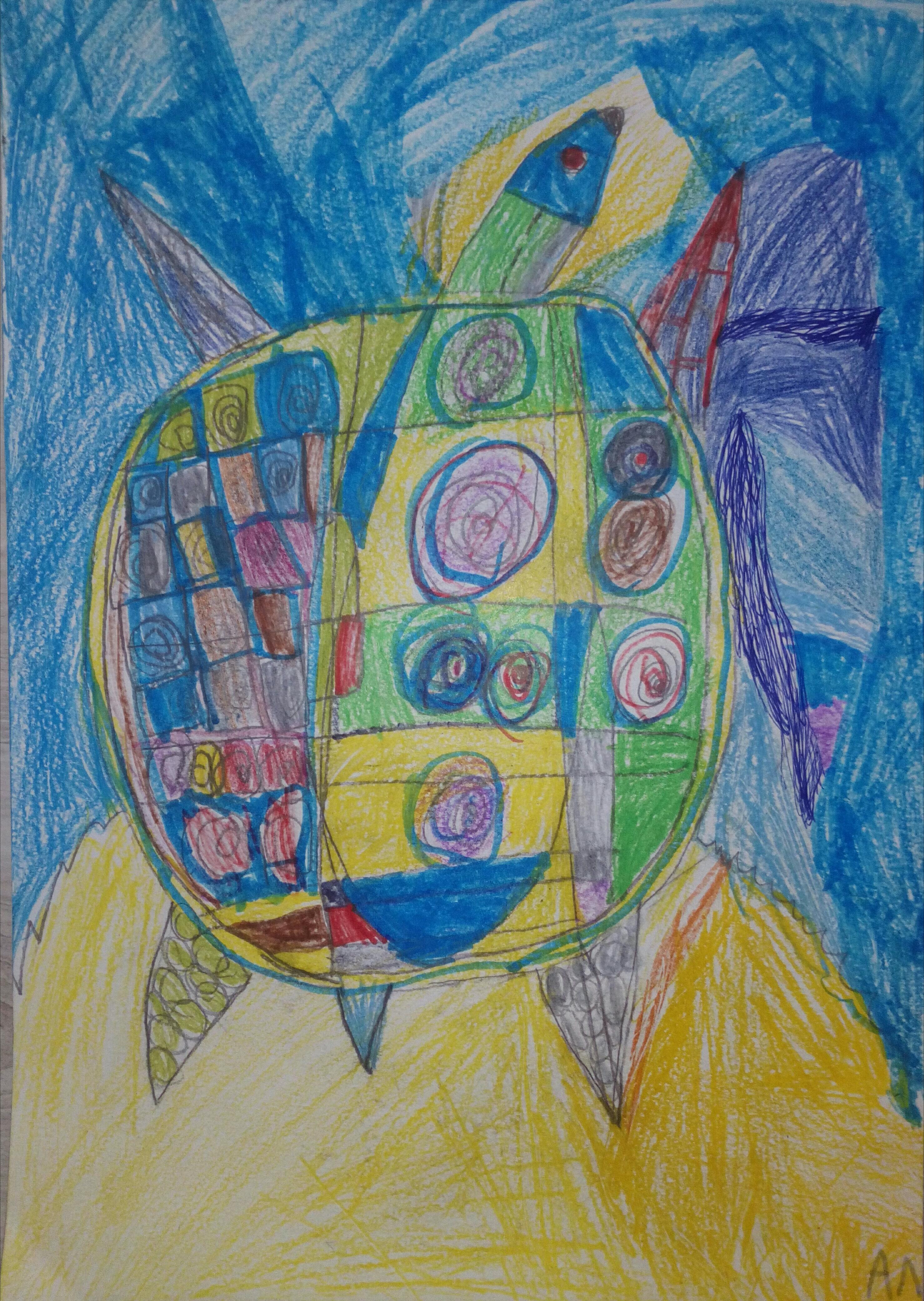 Разноцветная черепашка. Фоминых Алина, 5 лет. I премия