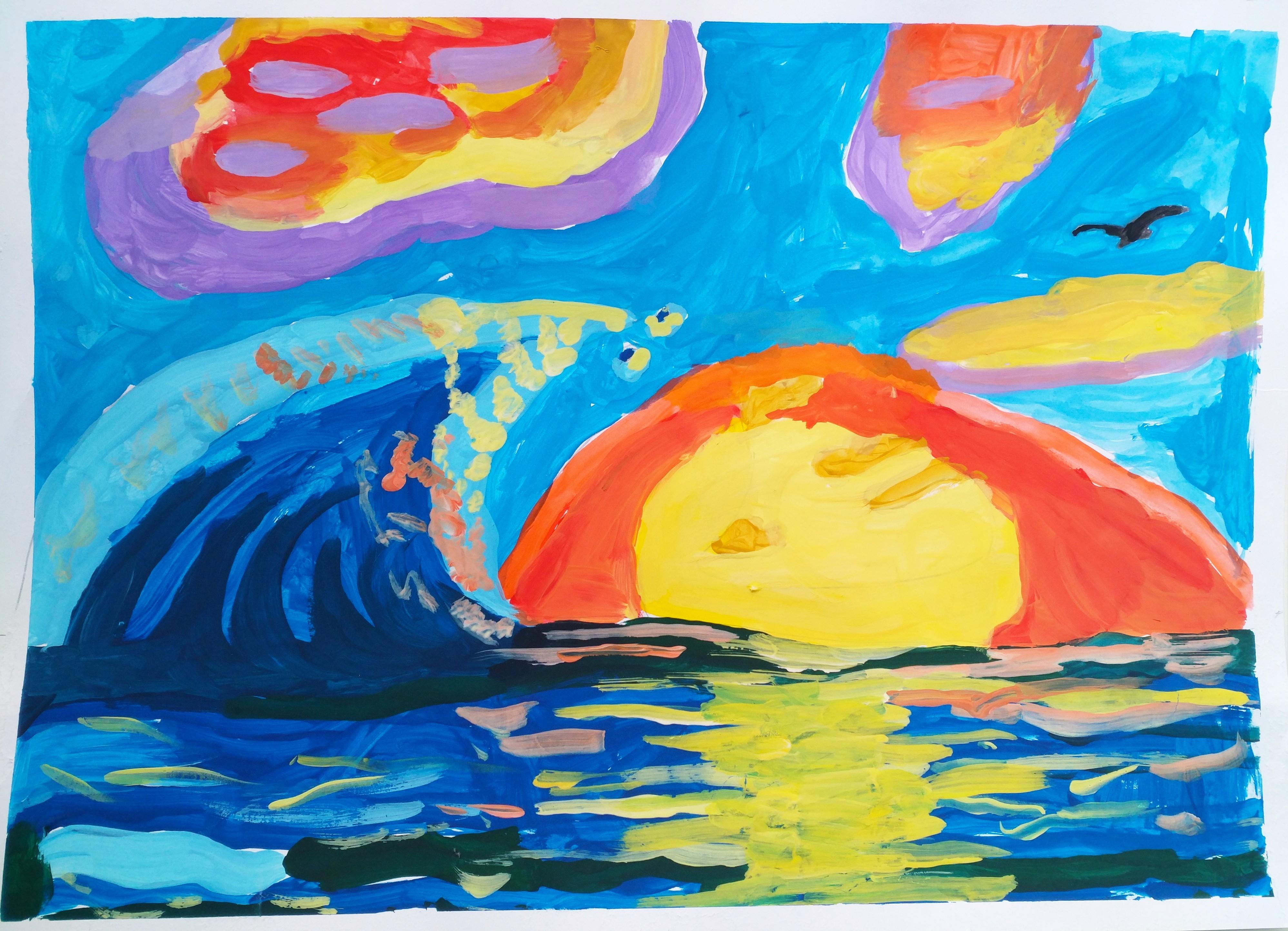 Волна над Солнцем. Лепихина Дарья 5 лет. I премия