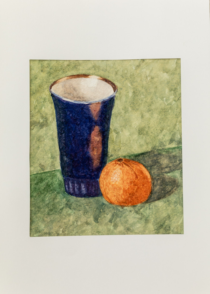 Мария Трубникова. Синий стакан с мандарином