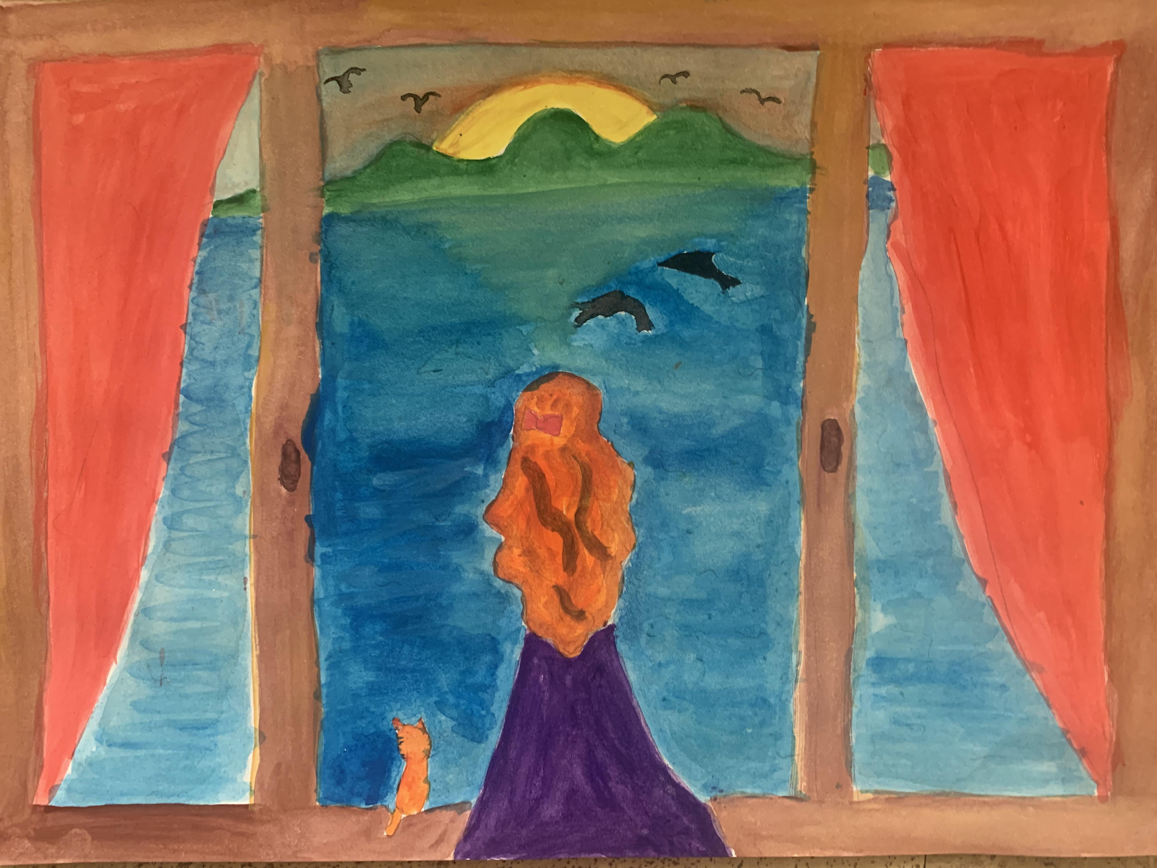 Закат. Артюшенко Алиса, 6 лет. III премия