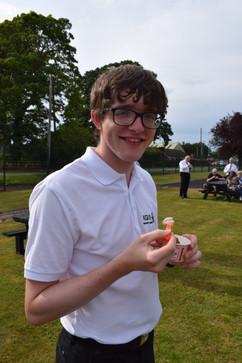 Young man enjoying ice-cream