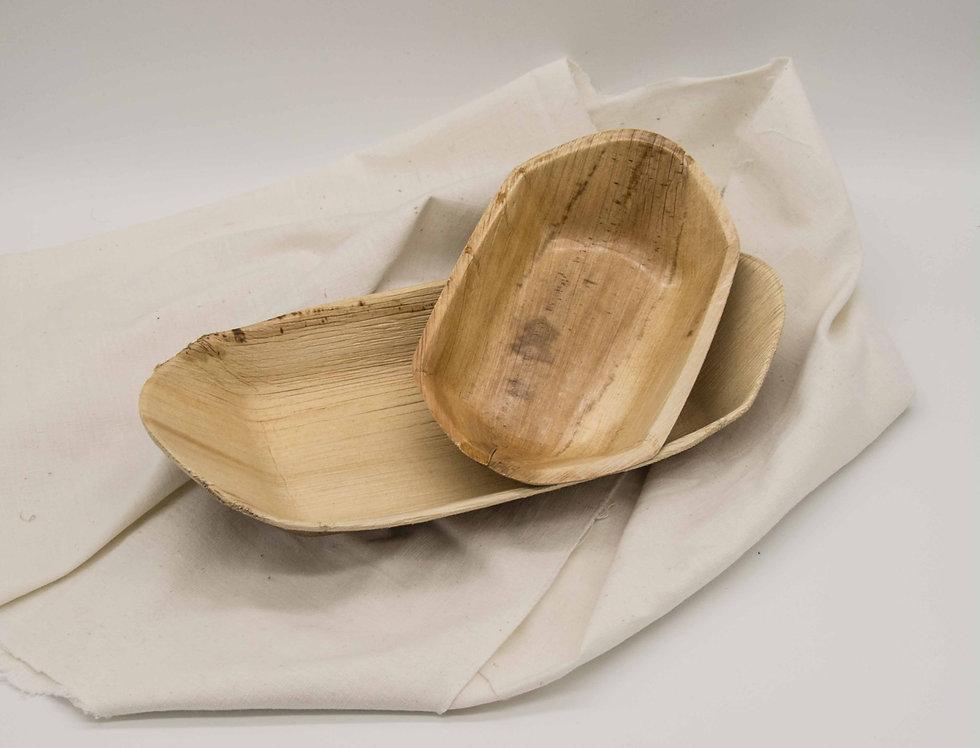 Πιατέλα βάρκα από φοινικόφυλλο 10 τεμ.