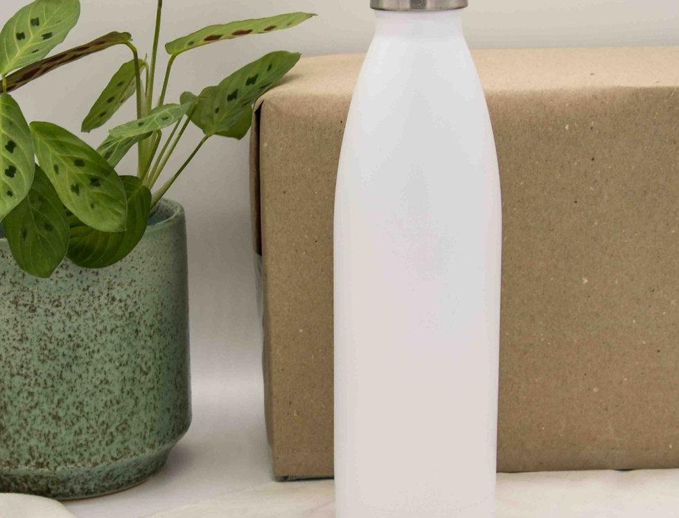 Μπουκάλι ισοθερμικό ανοξείδωτο λευκό 500ml
