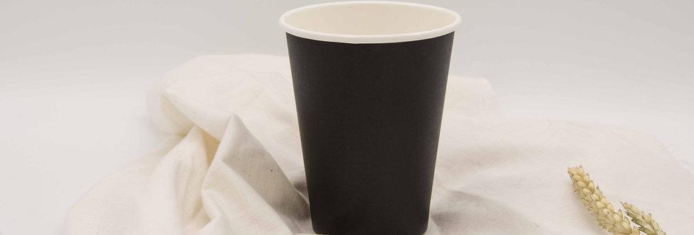 Χάρτινο κύπελλο μαύρο βιοδιασπώμενο 10 τεμ.