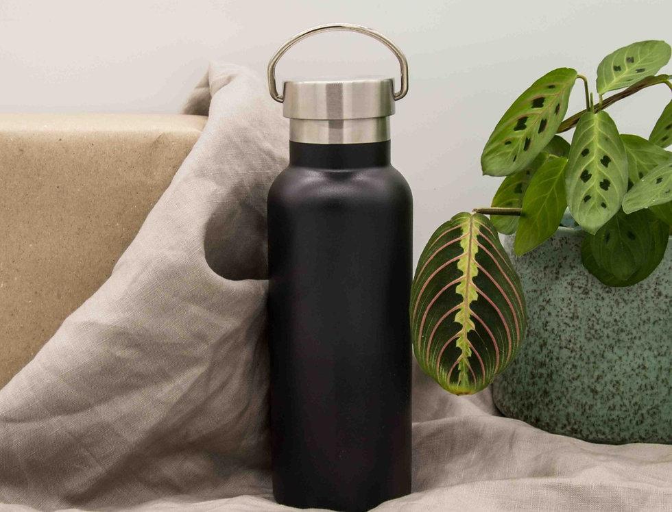 Μπουκάλι ισοθερμικό ανοξείδωτο με λαβή μαύρο 500ml