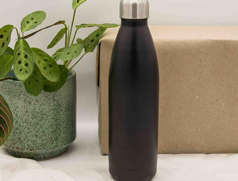 Μπουκάλι ισοθερμικό ανοξείδωτο μαύρο 500ml