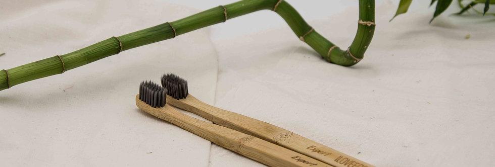 Σετ 2 οδοντόβουρτσες από μπαμπού Expert