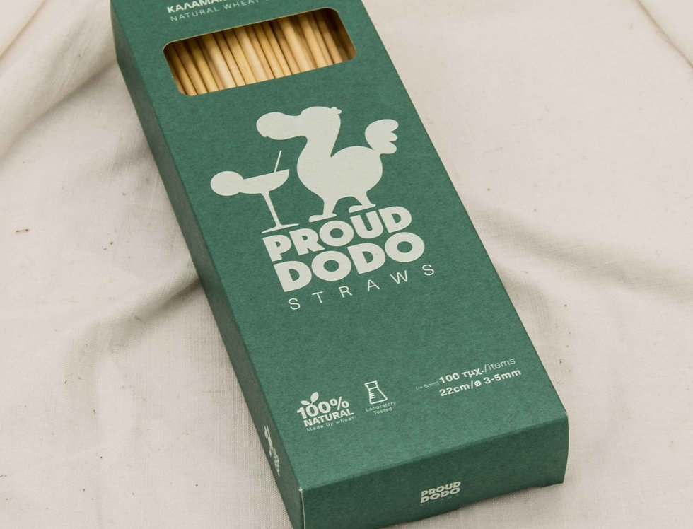 Καλαμάκια από σιτάρι Proud Dodo 22 cm 100 τεμ.