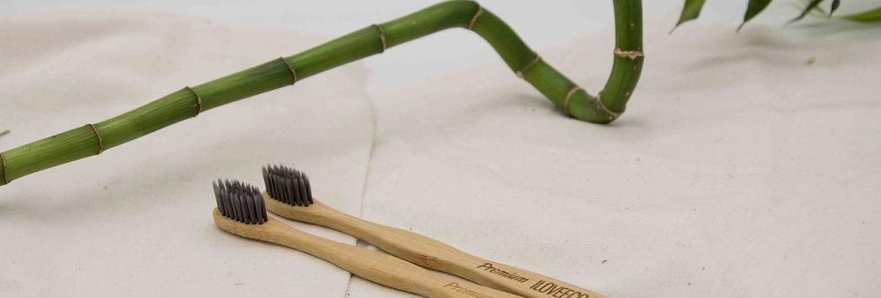 Σετ 2 οδοντόβουρτσες από μπαμπού Premium