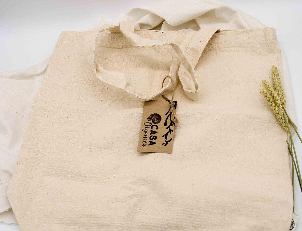 Μεγάλη τσάντα για ψώνια από βιολογικό βαμβάκι