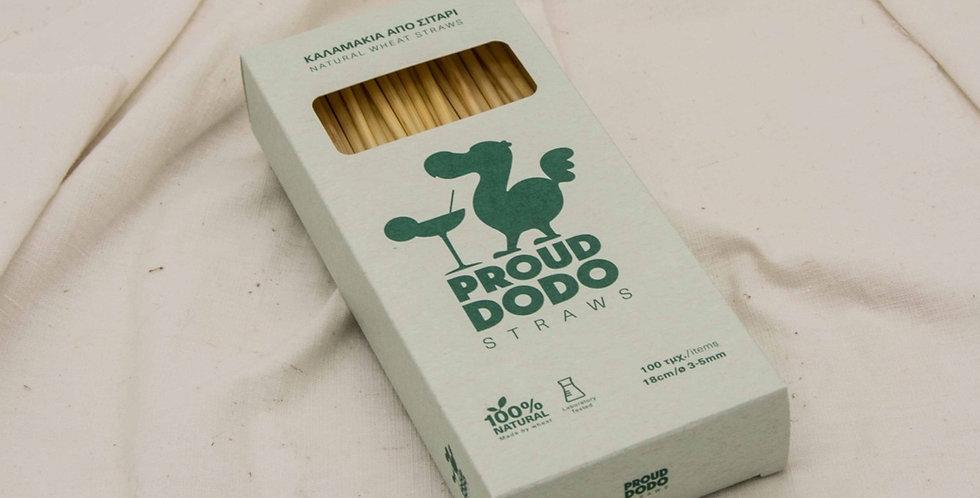 Καλαμάκια από σιτάρι Proud Dodo 18 cm 100 τεμ.