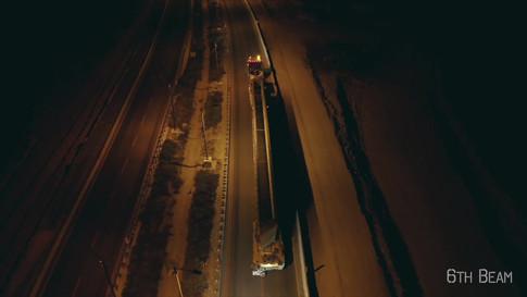 Bridge beams lift operation
