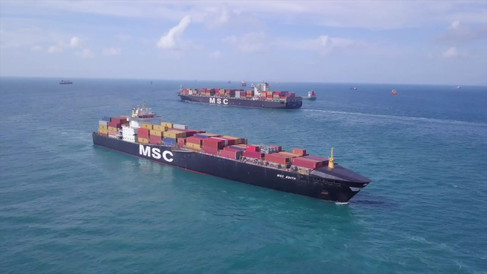 MSC Ships at sea
