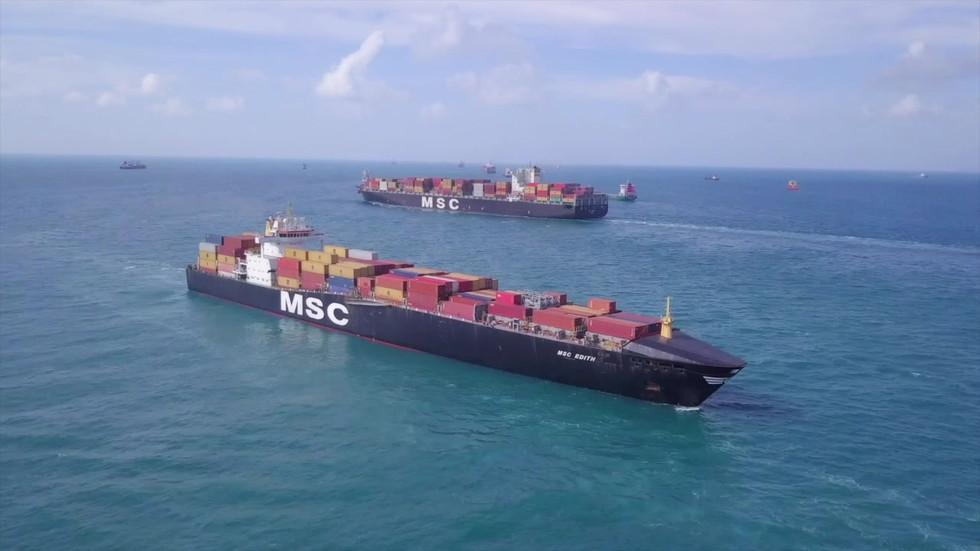 MSC Ships at sea