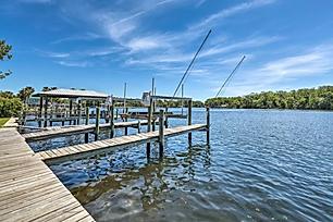 boat dock on river