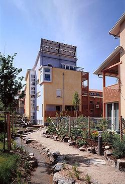 Bild der ökologischen und nachhaltigen Wohnsiedlung Arkadien in Asperg bei Ludwigsburg