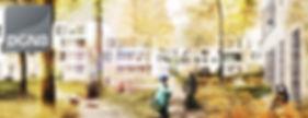 Ansicht für die DGNB-Zertifizierung der Quartiere Erneuerung Siedlung Westend in Berlin