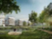 Visualisierung Wohnquartier Natürlich Rastatt