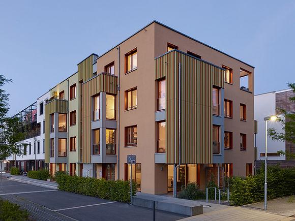 Ansicht Baugemeinschaftsprojekt Dreiklang in Tübingen